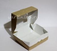 Коробка с окошком 100 x 80 x 35 мм, 100 шт