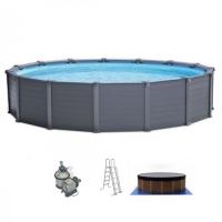 Бассейн каркасный (478х124см)+ фильтр, лестница, тент, подстилка INTEX арт.26382
