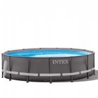 Бассейн каркасный (427х107см)+насос-фильтр, лестница, тент, подстилка INTEX арт.28310