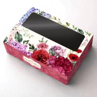 """Коробка с окошком """"Цветочная"""""""