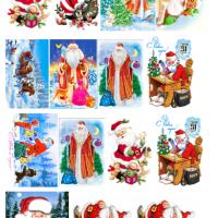 "Водорастворимые картинки ""Дед мороз"""