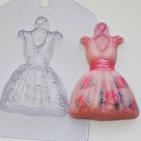 """пластиковая форма """"платье"""""""