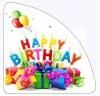 Этикетка - уголок happy birthday, 7 шт