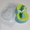 Пластиковая форма 8 марта/подснежники по диагонали