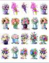Водорастворимые картинки Букеты с цветами_рисунки