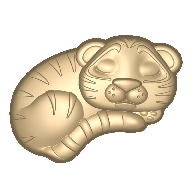 Пластиковая форма Спящий тигренок
