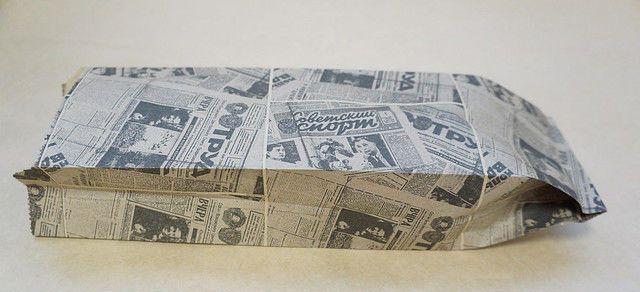 Пакет бумажный Газета