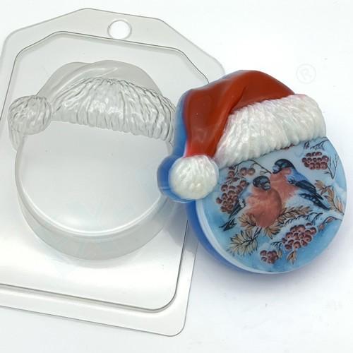 Пластиковая форма Круг в новогодней шапке