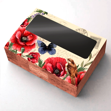Коробка с окошком Маки