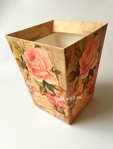 КАШПО_трапеция картон (розы ретро sometimes)