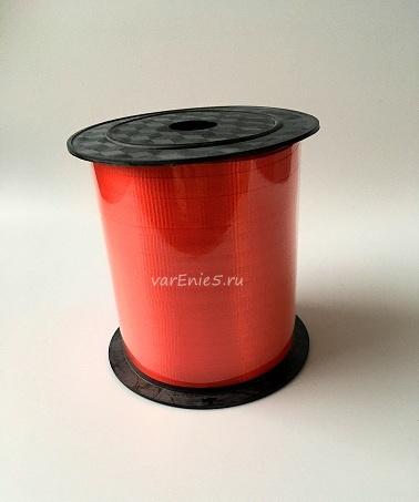 Лента упаковочная бабина  0,5 см , 100у (красная)
