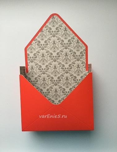 КАШПО_конверт картон красный