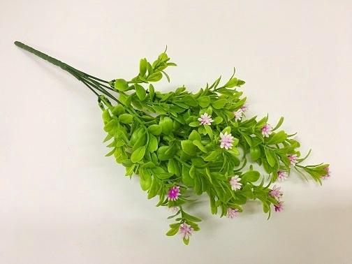 Букет зелени цветочки-ежики сиреневый