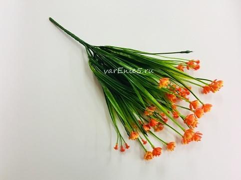 веточка пырея, цветки оранжевые
