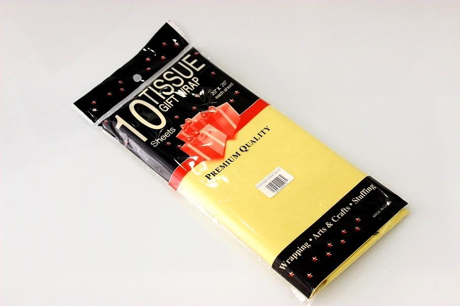 Бумага тишью, желтая 10шт