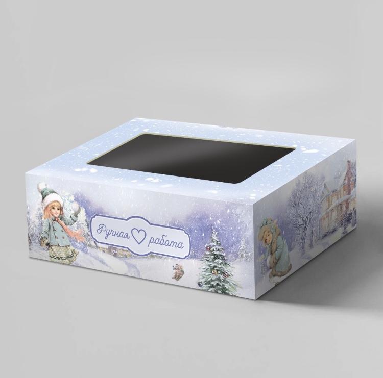 Коробочка с окошком Зимняя сказка (малая)