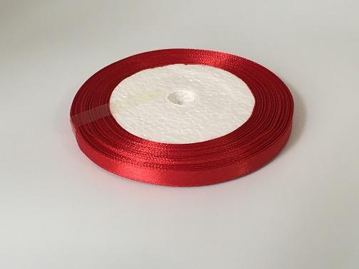 Лента атласная, темно-красный , 6 мм (20м)