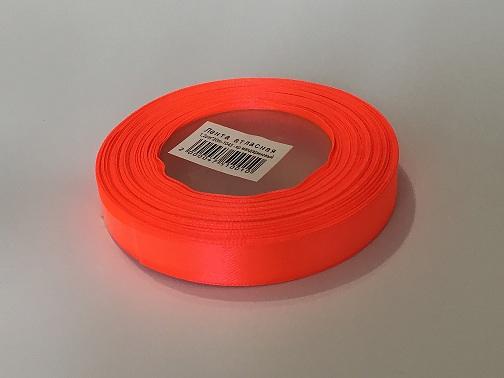 Лента атласная, мандарин , 12 мм (20м)