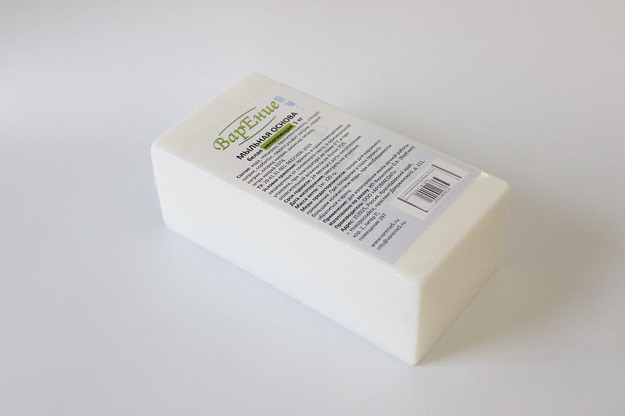 Основа для мыла ВарЕние белая Непотеющая 1 кг.