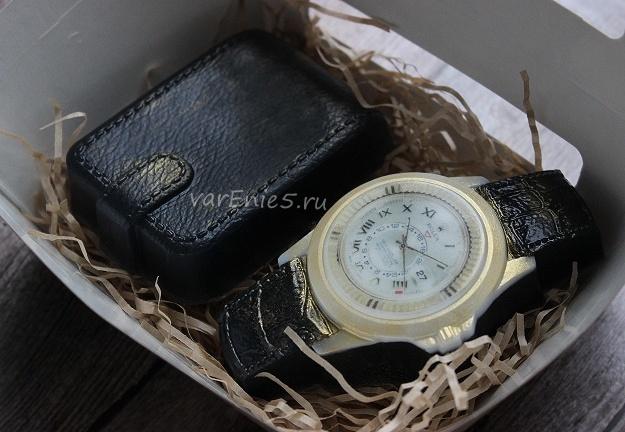 Готовое мыло Часы и портмоне