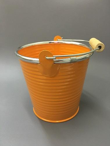 Ведерко металл оранжевое