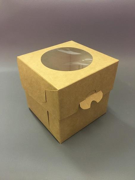 Коробка для капкейка 100*100*100мм