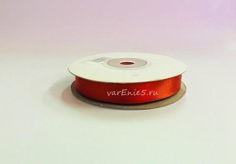 Лента атласная, цвет рыжий, 12 мм (20м)