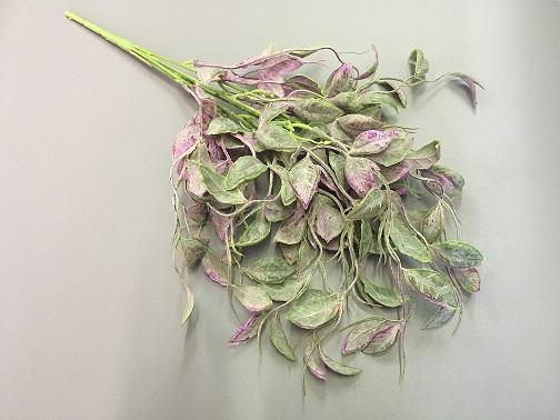 Букет зелени свисающий, лист сиреневый