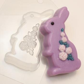 Пластиковая форма Кролик розы