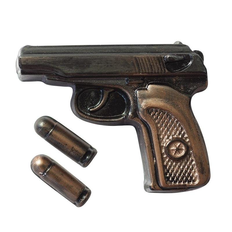 Пластиковая форма Пистолет Макаров с пулями
