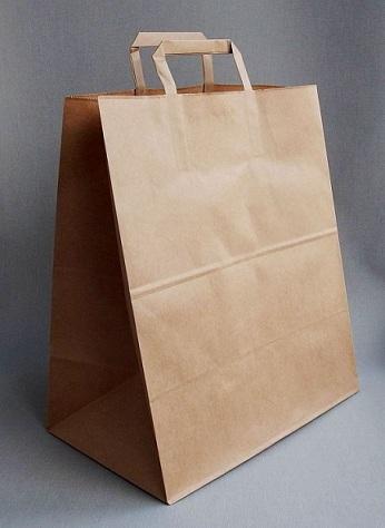 Пакет крафт с плоской ручкой 240*140*280 м, 1 шт