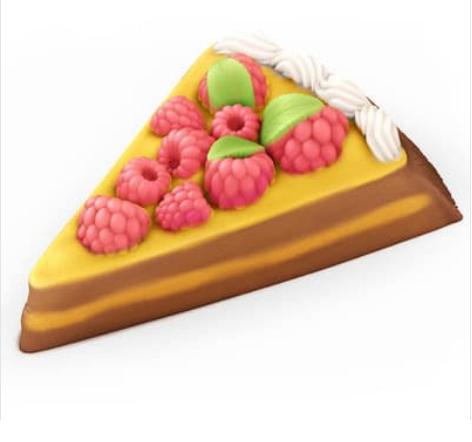 Пластиковая форма Торт с малиной