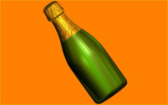Пластиковая форма Шампанское БП