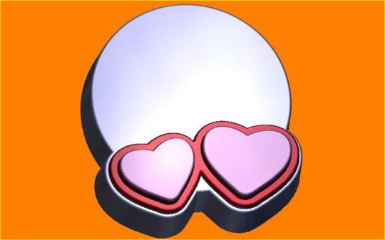 Пластиковая форма Открытка сердца под картинку БП