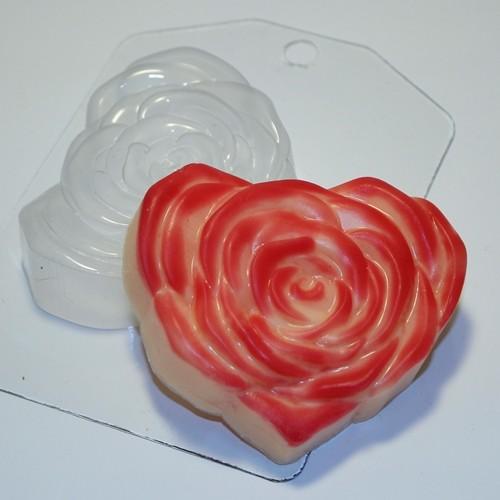 Пластиковая форма Роза-сердце