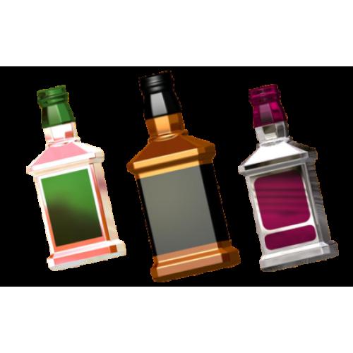 Пластиковая форма Бутылка под картинку БП
