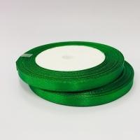 Лента атласная, зеленая, 6 мм (20м)