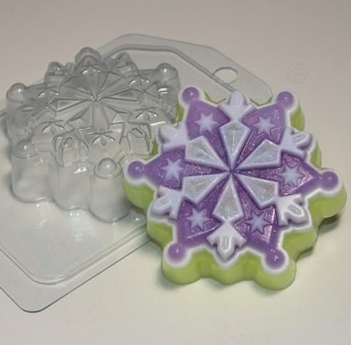 Пластиковая форма  Снежинка 6