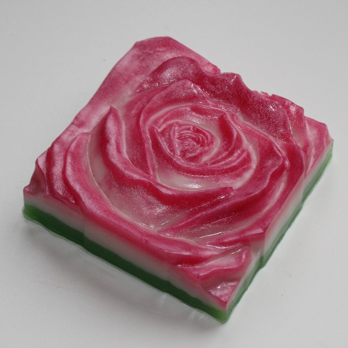Пластиковая форма Роза квадратная