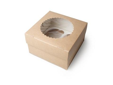 Коробка для капкейка с окошком 160*100*160