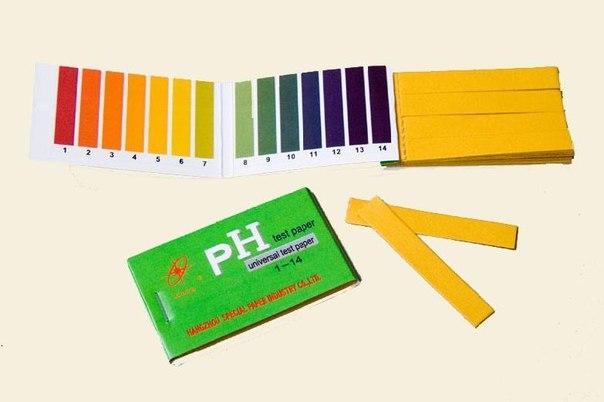 Индикаторные полоски pH , 1 комплект
