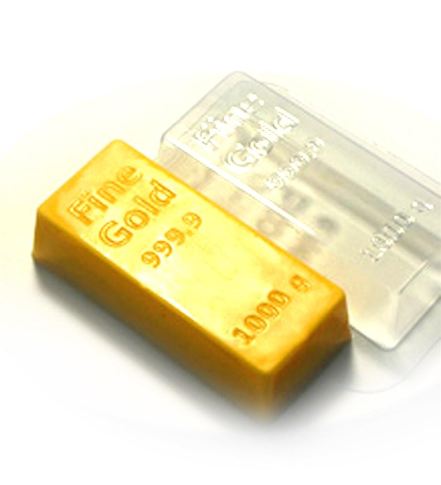 Пластиковая форма Золотой слиток