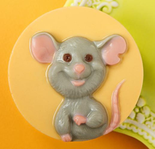 Пластиковая форма Мышь счастливая