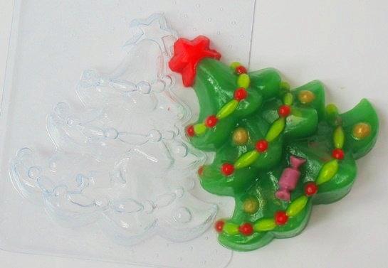 Пластиковая форма Елка украшенная