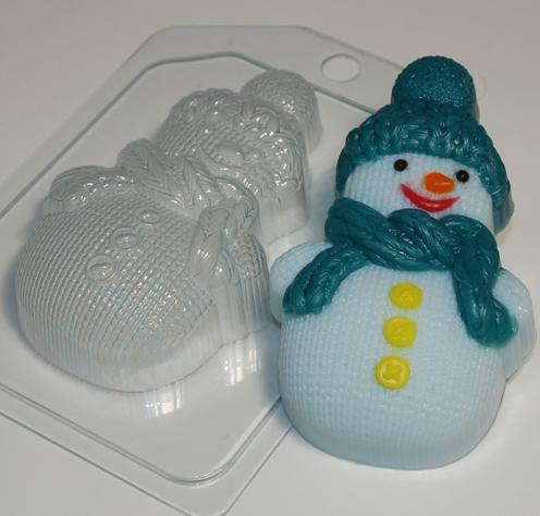 Пластиковая форма Снеговик вязанный