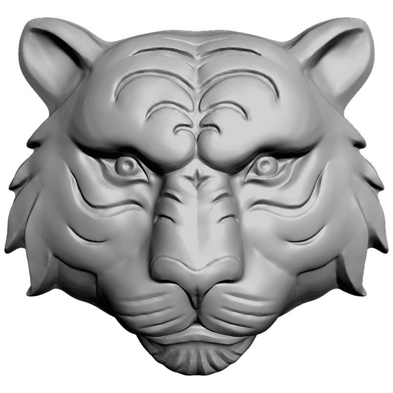 Пластиковая форма Барельеф тигр