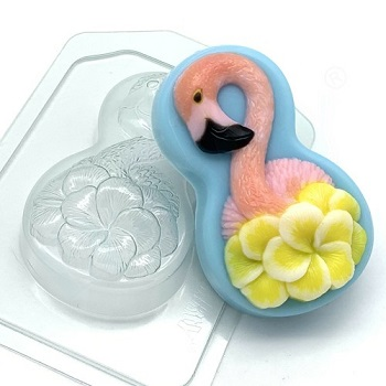 Пластиковая форма 8 марта/фламинго с цветами