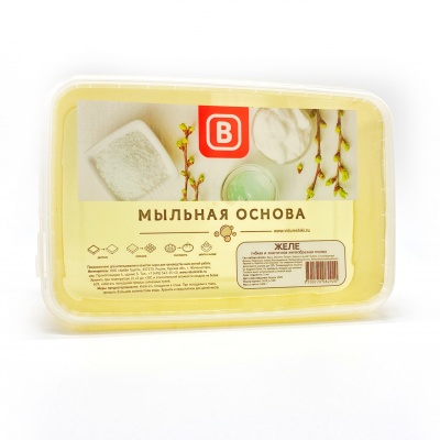 Основа для мыла  Выдумщики ЖЕЛЕ 1 кг. (+-20г.)