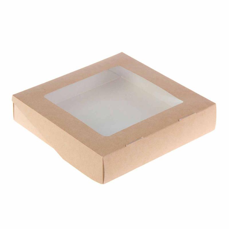 Высокая коробка с окошком 200*200*50 мм