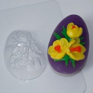 Пластиковая форма яйцо/крокусы